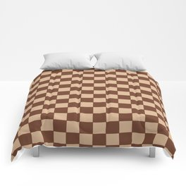 Checkers - Brown and Beige Comforters