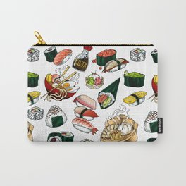 Sushi White Carry-All Pouch