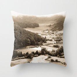 Misty valley Throw Pillow