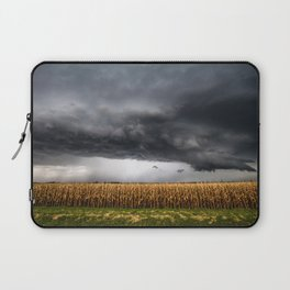 Corn Field - Storm Over Withered Crop in Southern Kansas Laptop Sleeve