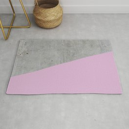 Concrete with Pink Lavender Color Rug