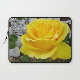 Beautiful Yellow Rose with Natural Garden Background Laptop Sleeve
