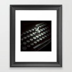 Type Character Framed Art Print