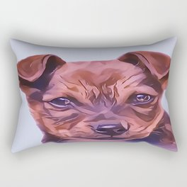 The Airedale Terrier Puppy Rectangular Pillow