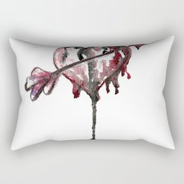 Cupid Watercolor Heart Rectangular Pillow
