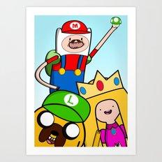 It's Mario Time! Art Print