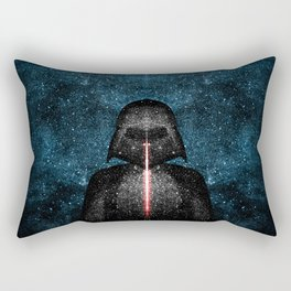 Darth Vader with Lightsaber in Galaxy Rectangular Pillow