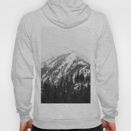 Fading Mountain Winter - Snow Capped Nature Photography Hoody