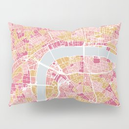 Colorful London map Pillow Sham