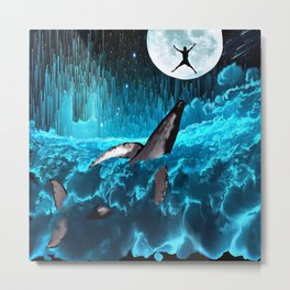 Swimming In The Clouds Metal Print