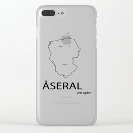 map of åseral Clear iPhone Case