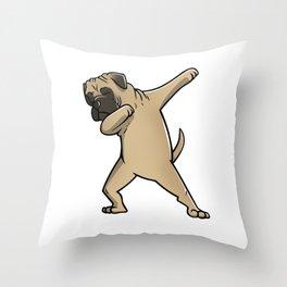 Funny Dabbing Bullmastiff Dog Dab Dance Throw Pillow