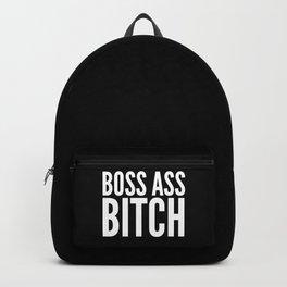BOSS ASS BITCH (Black & White) Backpack