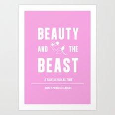 Disney Princesses: Beauty and the Beast Minimalist Art Print