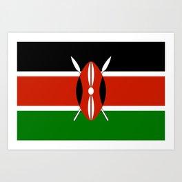 Kenyan national flag - Authentic version Art Print