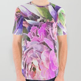 Colorful Cactus All Over Graphic Tee