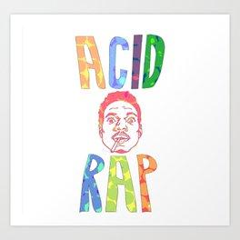 Acid Rap The Rapper Art Print