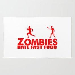 zombies hate fast food Rug