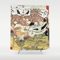 sparrow Shower Curtains featuring Sparrow by Jaime Beitler