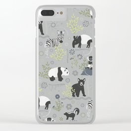 Zoo Babies Clear iPhone Case