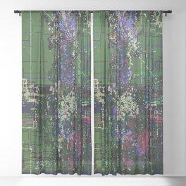 8bit fool Sheer Curtain