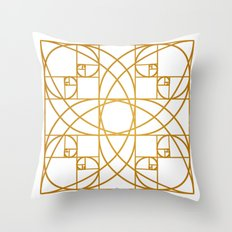 Golden Flower Throw Pillow