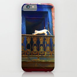 Cat in the Balcony iPhone Case