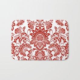 Damask in red Bath Mat