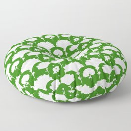 green silhouette garden Floor Pillow