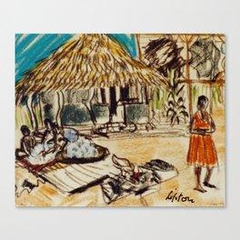 Uganda Homestead, East Africa 1960 Canvas Print