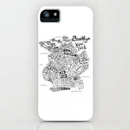 Brooklyn Map iPhone Case