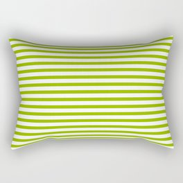 Apple Green & White Maritime Small Stripes- Mix & Match with Simplicity of Life Rectangular Pillow