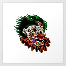 zombie evil clown Art Print