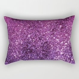 Purple Pink Ombre Lady Glitter #1 #shiny #decor #art #society6 Rectangular Pillow