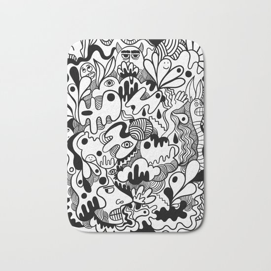 Weirdo doodle Bath Mat