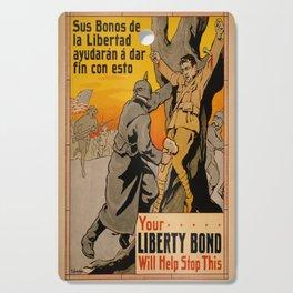 Vintage poster - Liberty Bonds Cutting Board
