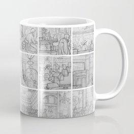 Cafe sketches by David A Sutton. 18 piece horizontal. sketchbookexplorer.com Coffee Mug