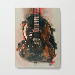 Tony Iommi's electric guitar Metal Print