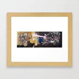 Combiner Wars: Defensor VS Bruticus Framed Art Print