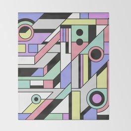 De Stijl Abstract Geometric Artwork 2 Throw Blanket