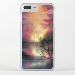 Fantasy Landscape Clear iPhone Case