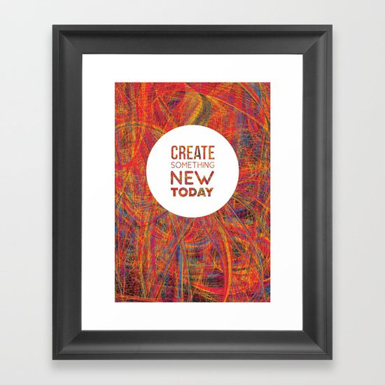 Create! Framed Art Print