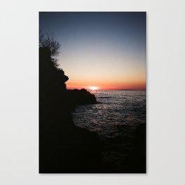Dalmatian sunset Canvas Print