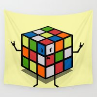 rebel Wall Tapestries featuring Rebel Rubik by AlbaRicoque