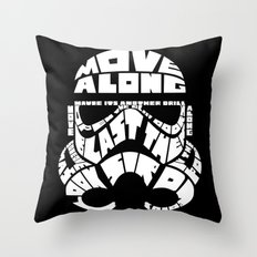 Stormtrooper in typography Throw Pillow