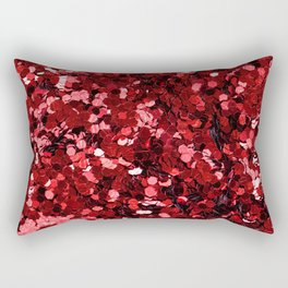 Red Sequins Rectangular Pillow