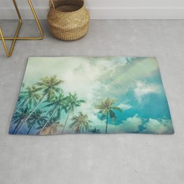 Palmtrees and Clouds Rug