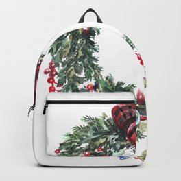 Christmas wreath of happiness Backpack