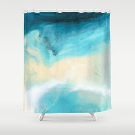 """Swakopmund"" Resin Seascape coastal art, Africa coast in Namibia Shower Curtain"