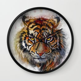 Tigers Eyes Wall Clock